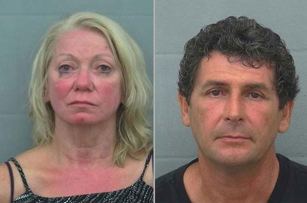 Margaret Ann Klemm e David Bobilya foram presos após ato sexual (Foto: Sumter County Sheriff's Office/Divulgação)