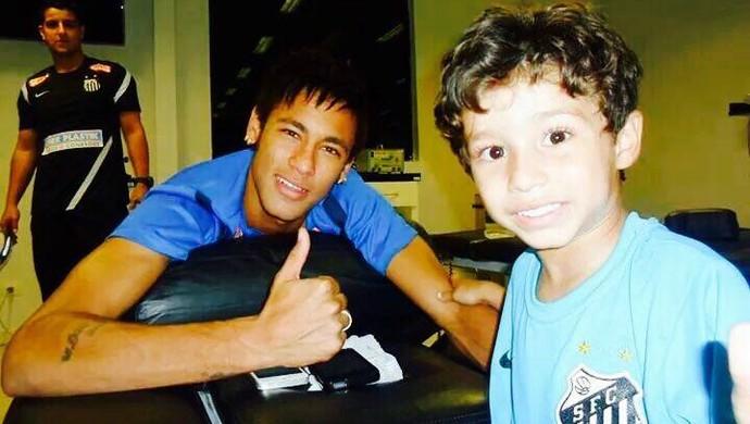 Neymar e Henzo (Foto: Arquivo pessoal)