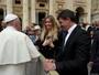 Antônio Banderas tem encontro com o Papa Francisco no Vaticano