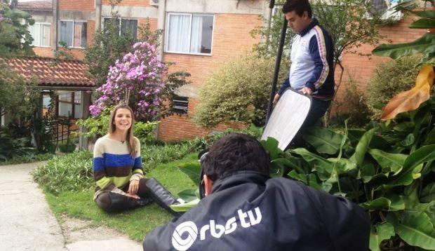 Apresentadora do Vida & Saúde Mariana Paniz (Foto: João Salgado/RBS TV)