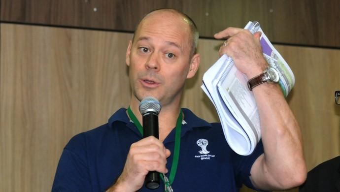 Chris Unger chefe do departamento de operações da Fifa (Foto: Aldo Carneiro/ Pernambuco Press)