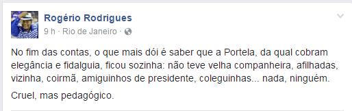 Diretor do departamento cultural da Portela (Foto: Reprodução/Facebook)