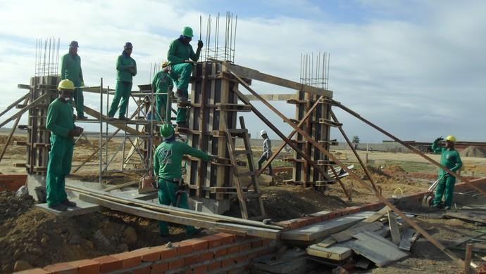 Guarita do Ninho do Galo está em fase de enchimento das colunas (Foto: Denison Roma / GloboEsporte.com)