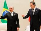 Na China, Temer reforça planos do Brasil em infraestrutura
