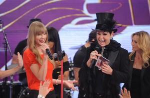 Taylor Swift no TV Xuxa (Foto: Blad Meneghel/ Xuxa Produções)