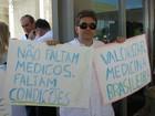 Médicos fazem ato na Esplanada dos Ministérios por melhorias na saúde