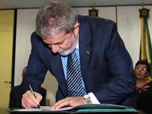 Presidente Lula durante lançamento do edital de concorrência do projeto do Trem de Alta Velocidade (Foto: Ricardo Stuckert / PR)