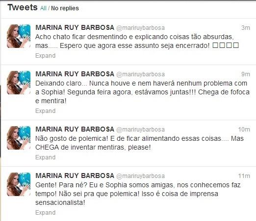 Marina se manifestou via Twitter (Foto: Reprodução Twitter)