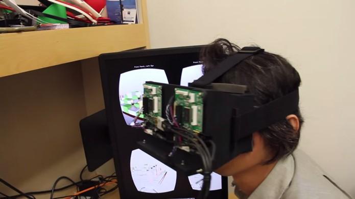 Protótipo produz imagens mais ricas em detalhes tridimensionais para evitar as náuseas (Foto: Reprodução/YouTube)