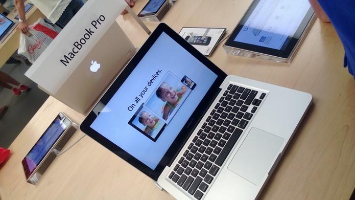 MacBook Pro na Apple Store de Nova York (Foto: Allan Mello/TechTudo)