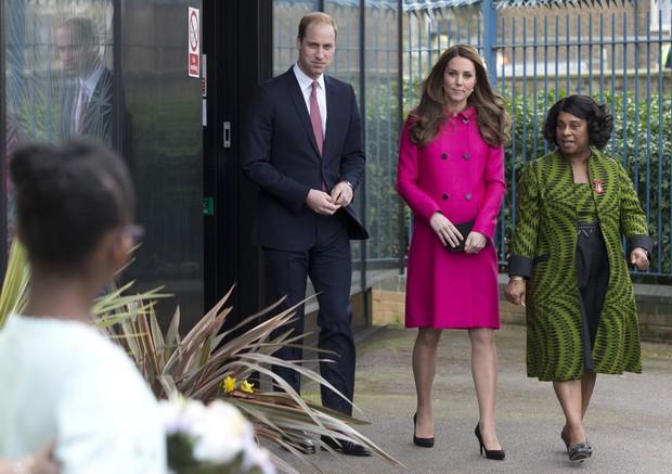 Kate Middleton e príncipe William na última aparição da duquesa de Cambridge antes de dar à luz segundo filho (Foto: AFP)