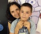 Tereza Seiblitz e o filho caçula, Juliano, de 9 anos | Reprodução