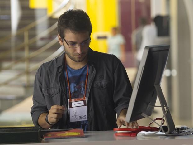 Davi vai trabalhar em um ONG de inclusão digital  (Foto: João Cotta/TV Globo)
