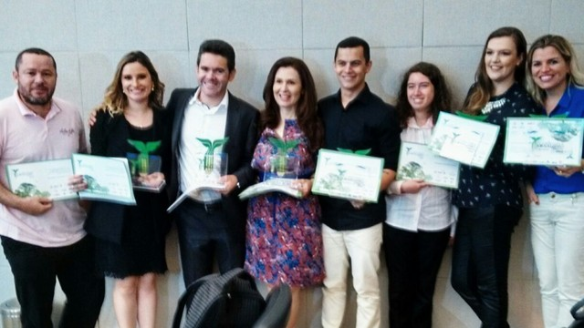 Profissionais da RBS TV e do G1 SC foram premiados nesta quinta-feira (3) (Foto: RBS TV/Divulgação)