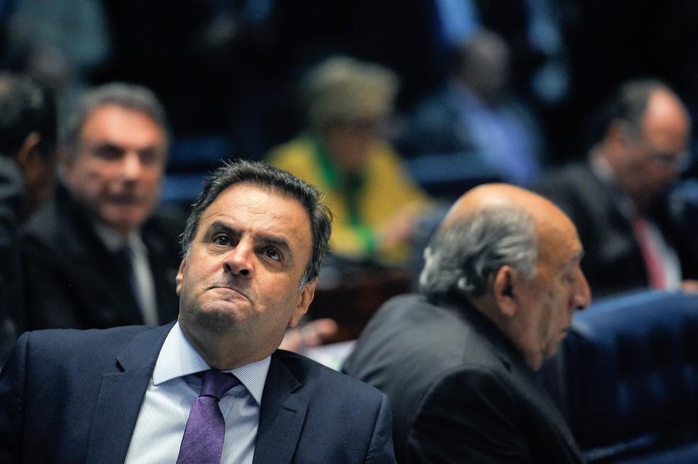 O senador afastado Aécio Neves (PSDB-MG) (Foto: Pedro França/Agência Senado)