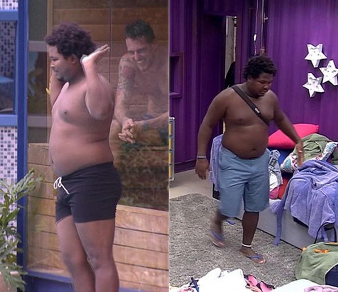 Ronan tinha quase 120 kg quando entrou no BBB16 (Foto: TV Globo)