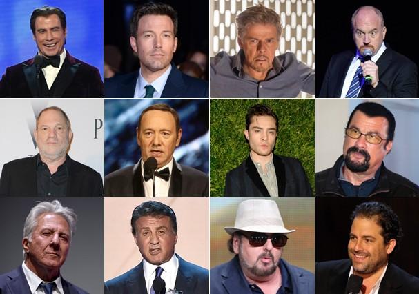 Homens acusados de assédio e abuso sexual (Foto: Getty Images)