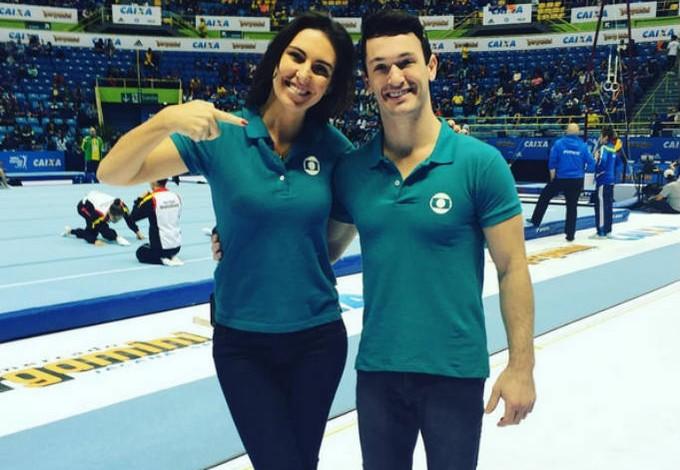 Glenda Koslowski, apresentadora da Globo, e Diego Hypolito (Foto: Reprodução / Instagram)