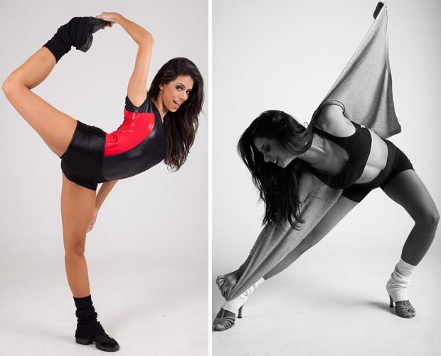 Bailarina em mais uma pose sensual e flexibilidade (Foto: Erik Almeida )