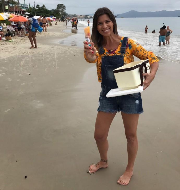 Camille Reis vai mostrar que os sacolés estão em alta em novas versões  (Foto: Mistura/RBS TV)