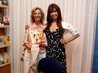 Marília Pêra e mais famosos prestigiam lançamento de livro