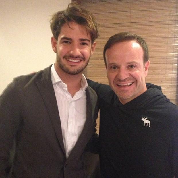 Alexandre Pato e Rubens Barrichello (Foto: Reprodução / Instagram)