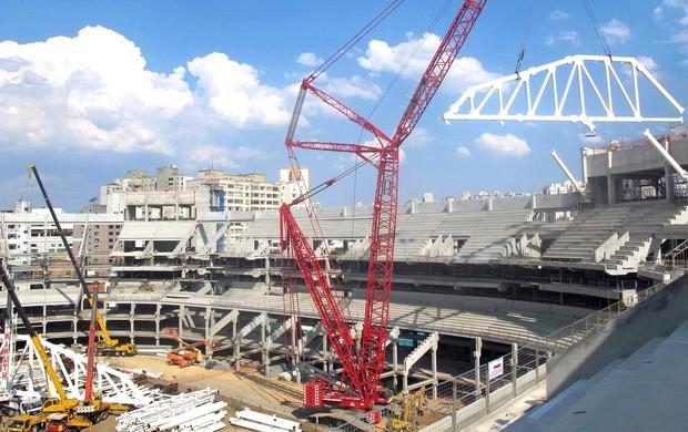 Obras da Arena Palestra (Foto: Diego Ribeiro / Globoesporte.com)