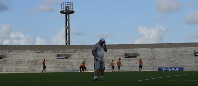 Marcelo Vilar, treino, Botafogo-PB (Foto: Amauri Aquino / GloboEsporte.com/pb)