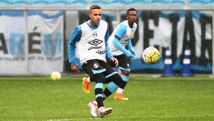 Luan em treino do Grêmio  (Foto: Lucas Uebel / Grêmio, DVG)