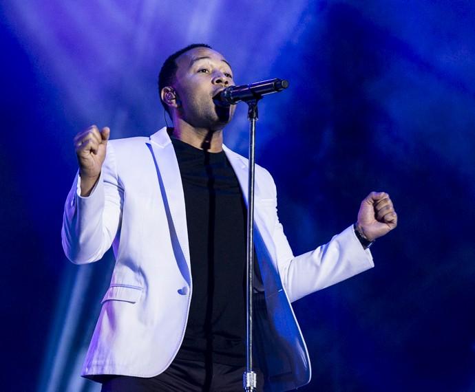 John Legend solta a voz e emociona o público do Palco Sunset (Foto: Ellen Soares/Gshow)