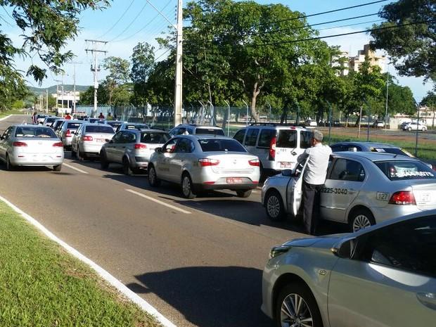 Manifestação taxistas (Foto: Divulgação)