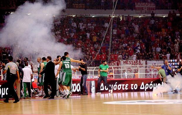 basquete final grega olympiakos e panathinaikos (Foto: Reprodução / Facebook)