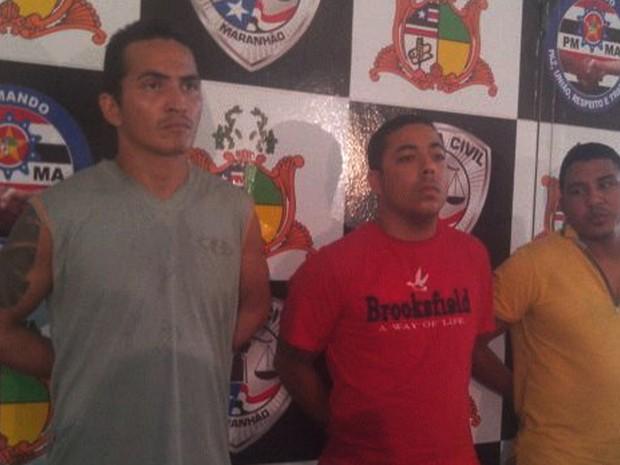 Trio preso em Mossoró (RN) foi apresentado nesta segunda-feira (Foto: G1 Maranhão)