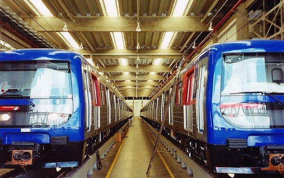 Trens do metrô de São Paulo (Foto: Divulgação)