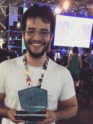 Raulo Ferraz venceu em 1º na Maratona de Negócios da Campus Party Brasil, na categoria Saúde, com a plataforma Hippo Drs (Foto: Arquivo pessoal/Divulgação)