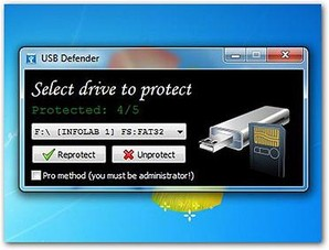 Interface USB Defender