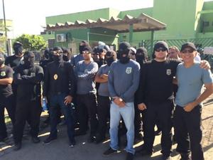 Agentes penitenciários pedem melhores condições de trabalho  (Foto: Jeferson Abreu/ Sindasp)
