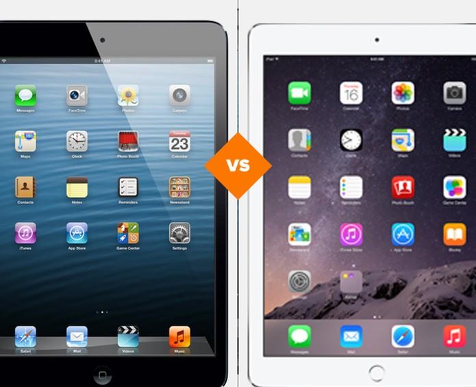 iPad Air 2 versus iPad mini 3, qual a melhor opção? (Foto: Arte/TechTudo)