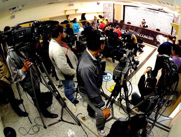 Centenário Corinthians: Sala de imprensa Parque São Jorge