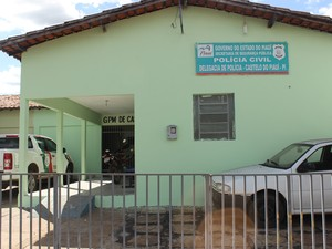Delegacia de Castelo do Piauí tem vários registros contra os quatro adolescentes (Foto: Patrícia Andrade/G1)