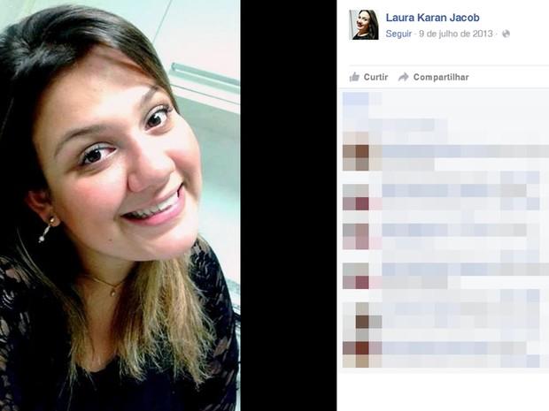 Laura Karan Jacob estava no último ano de jornalismo (Foto: Reprodução/Facebook)