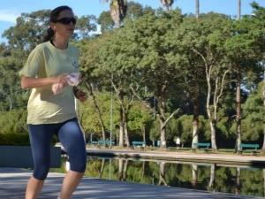 Luciane Kohlmann já corria na esteira e na rua (Foto: Divulgação, RBS TV)