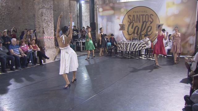 36 mil pessoas participaram esse fim de semana do Festival Santos Café. (Foto: Reprodução / TV Tribuna)