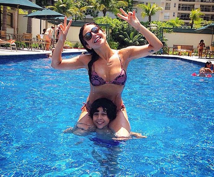 Priscila com o seu filho Vitor (Foto: Arquivo Pessoal)