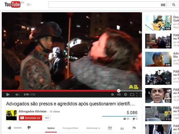 Advogados Ativistas foram presos durante debate na noite desta terça (1), no Centro de SP (Foto: Reprodução YouTube/Advogados Ativistas)