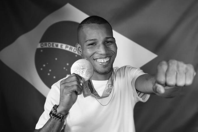Robson Conceição foi o primeiro boxeador a ganhar o ouro para o Brasil (Foto: Carol Caminha/Gshow)
