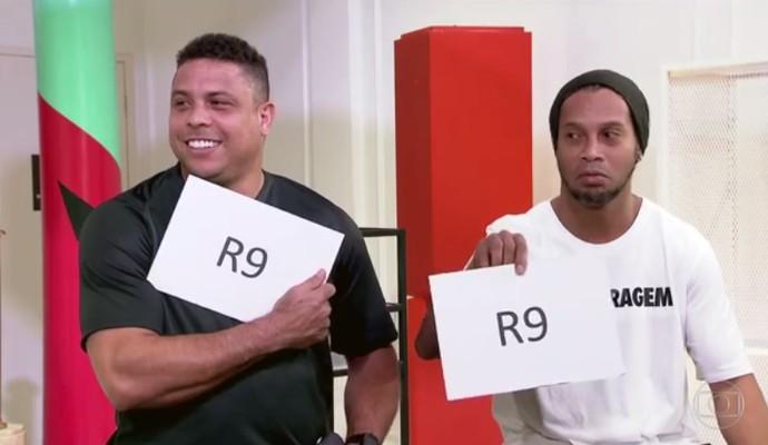 Ronaldinho e Ronaldo participam de quiz (Foto: reprodução)