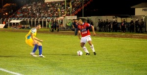André em atuação no jogo contra o Vilhena, na semifinal (Foto: Fernanda Bonilha)