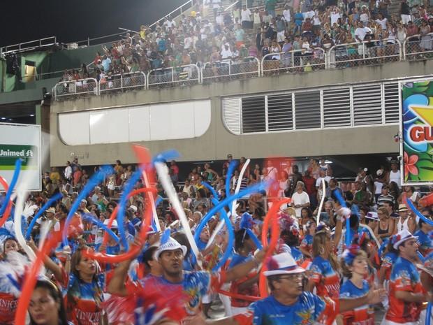 Ensaio da União da Ilha, no domingo (6), teve público de 75 mil pessoas, segundo a Liesa (Foto: Gabriel Barreira/ G1)