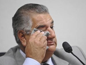 O ex-chefe de gabinete do governo do DF Cláudio Monteiro, em depoimento à CPI do Cachoeira (Foto: Wilson Dias/ABr)